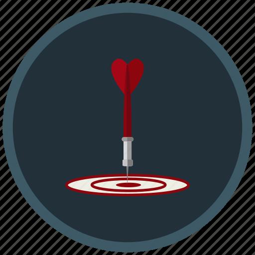 aim, arrow, goal, point, scope, target icon