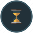clock, hourglass, processing, sand, time, waiting icon
