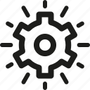 gear, optimization, options, seo, settings, solution icon