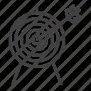 target, arrow, archery, aiming