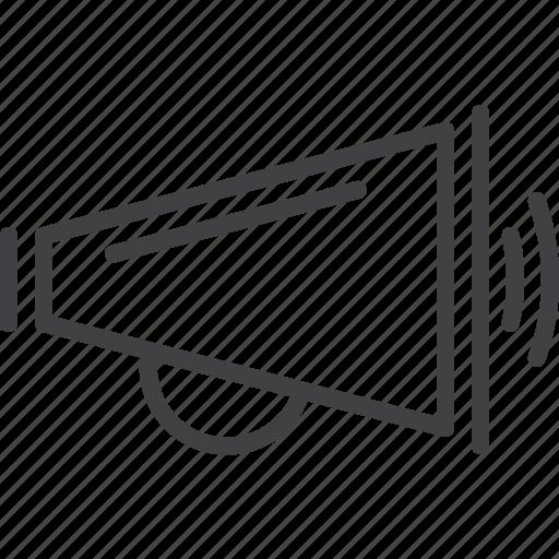 advertisement, announcement, bullhorn, megaphone icon