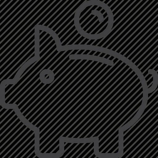 bank, pig, piggy, savings icon