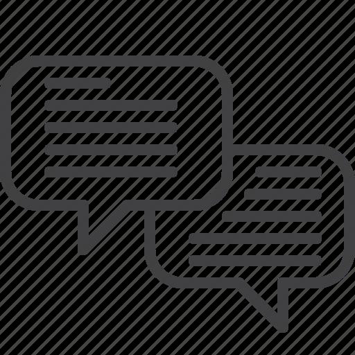 bubbles, chat, comments, speech icon