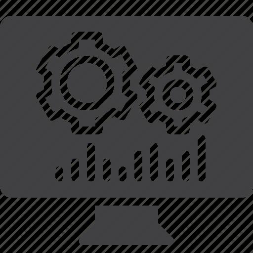 cogwheels, gear, screen, settings icon
