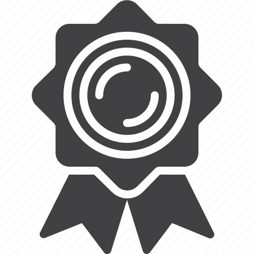 certificate, medal, quality icon