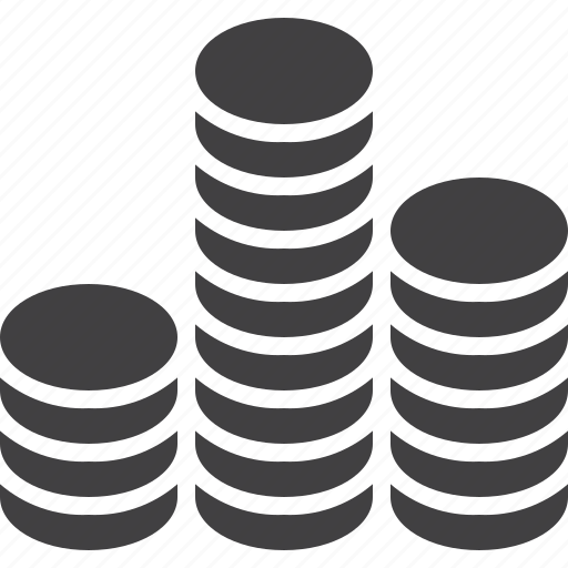 coins, money, stack icon