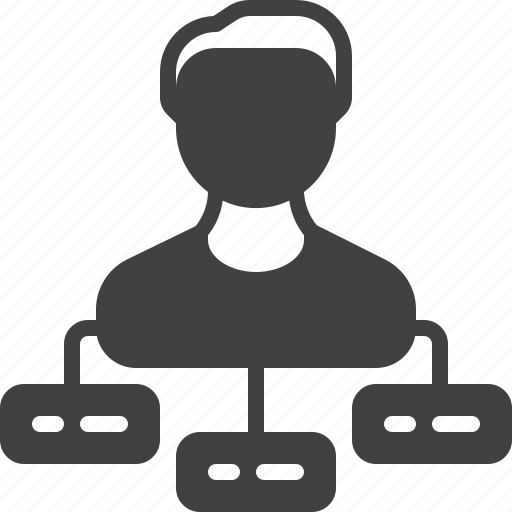manager, person, tasks icon