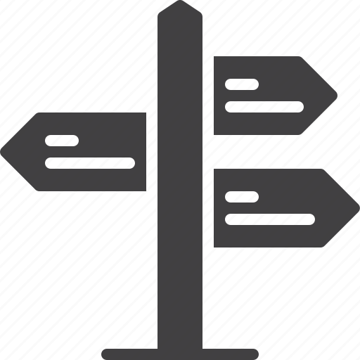 direction, pointer, signpost, street icon