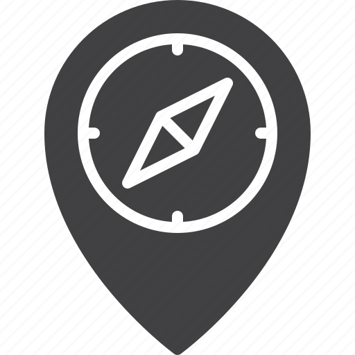 compass, location, pointer icon
