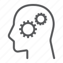 business, cog, development, gear, person, solution icon