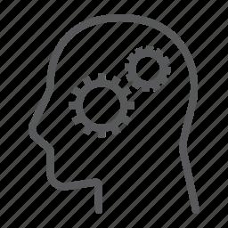 business, cog, development, gear, person, solution icon