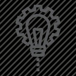 business, cogwheel, customize, development, lamp, lightbulb, product icon