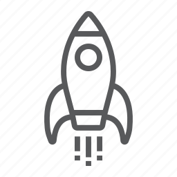 business, development, fire, fly, rocket, space, startup icon