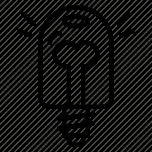 Bulb, electronics, invention, idea, light icon