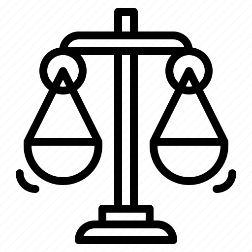 Justice, balance, scale, law, scales icon