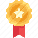 badge, gold, medal, reward, star, win, winner icon