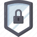 lock, locked, protect, safety, shield icon