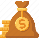 bag, cash, currency, dollar, finance, financial, money icon