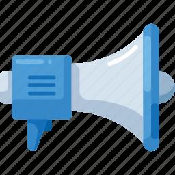 media, megaphone, microphone, sound, speaker icon