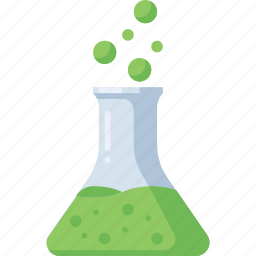 chemistry, education, flask, lab, laboratory, science, study icon