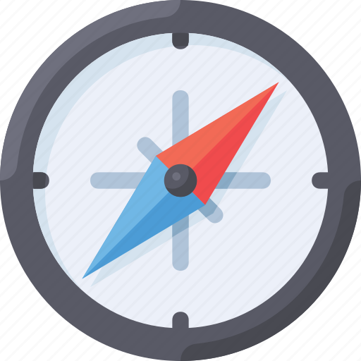 compass, direction, map, move icon