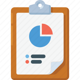 analytics, clipboard, diagram, graph, report, task icon