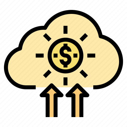 business, cloud, currency, idea, investment, startup icon