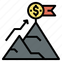 business, currency, goal, investment, startup icon