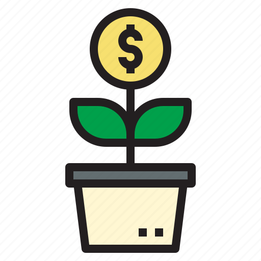 business, currency, growth, investment, startup icon
