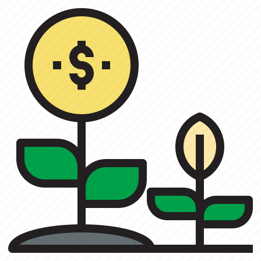 business, currency, growth, investment, money, startup icon