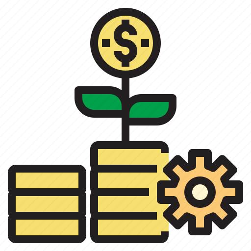 business, currency, investment, money, process, startup icon