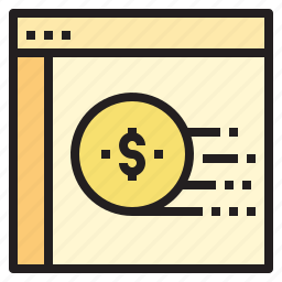 business, currency, investment, startup, website icon