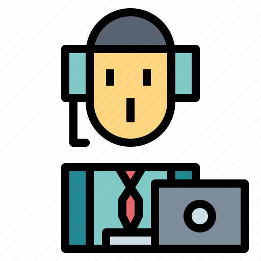 customer, operator, people, support, telemarketer icon