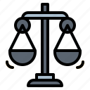 balance, justice, law, scale, scales icon