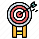 archer, arrow, sport, target, weapons icon
