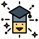 cap, college, education, graduation, sgraduation, university icon