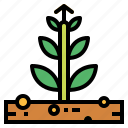 business, commerce, growth, plants, profits icon