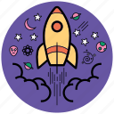boostop, business, campaign, idea startup, launch, rocket, startup icon
