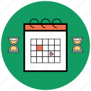 calendar, date, schedule, startup, time, uploads, week icon