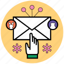 contact, email, mail, message, send, startup, uploads icon