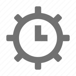 clock, clock setting, cog, cogwheel, gear icon