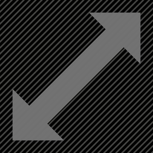 enlarge screen, expand arrow, increase size arrow, maximize, resize arrow icon
