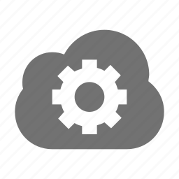 cloud computing, cloud configuration, cloud setting, cog gear icon