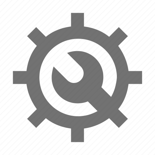 cogwheel, gear, options, settings, wrench icon