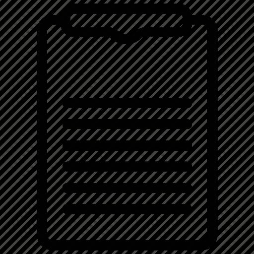 agenda, clipboard, document, list, sheet icon