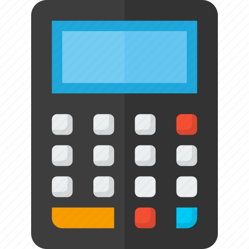 accounting, bank, calculate, calculator, finance, financial, mathematics icon