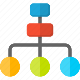 business, connection, hierarchy, leader, network, structure, team icon
