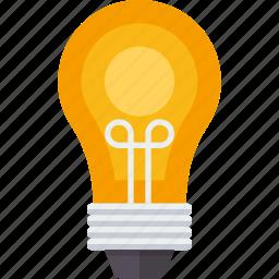 bulb, creative, electric, idea, lamp, light, lightbulb icon