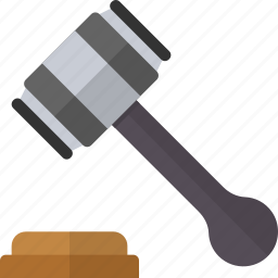 court, goverment, hammer, judge, justice, law icon