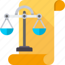 balance, justice, law, legal, regulation, rule, statute icon